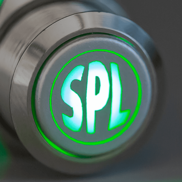 Aluminum Green LED SPL switch sound pressure level 600x600 - Aluminum Latching SPL 12V Push Button Switch SPDT