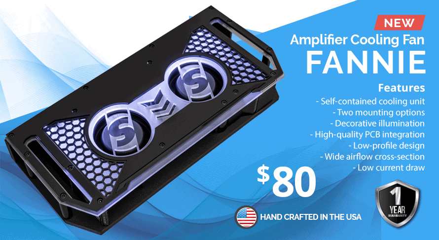 Fannie amplifier cooling fan - Sparked Innovations | 12V Custom Automotive Electronics