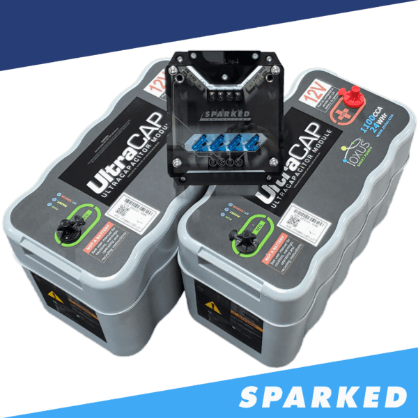 Two Ioxus UC 31 UltraCAPs and one RBX LITE4 relay box from Sparked Innovations 600x600 - DEAL 2x Ioxus UltraCAPs and a FREE RBX-LITE4