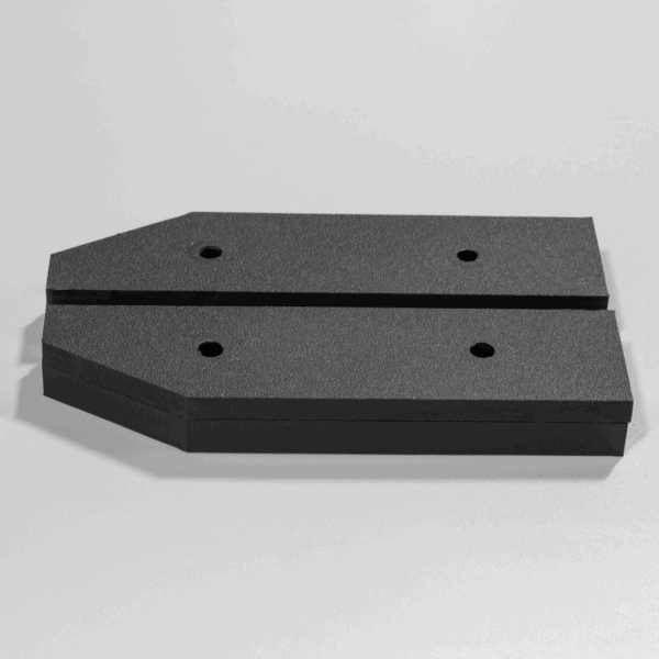"""Fannie ST OFF quarter and five eighths inch standoff brackets for amplifier cooling fan 600x600 - Fannie standoffs - 0.25"""" and 0.375"""" HDPE pairs"""