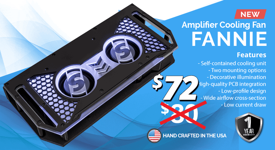 Fannie amplifier cooling fan 72 - Sparked Innovations | 12V Custom Automotive Electronics