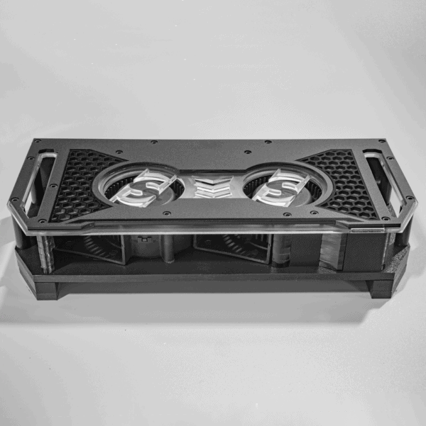 """Five eighths inch standoff height Fannie amplifier cooling fan Sparked Innovations 600x601 - Fannie standoffs - 0.25"""" and 0.375"""" HDPE pairs"""