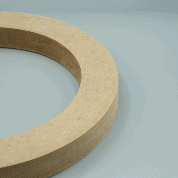 "MDF Basic Single Subwoofer Speaker Mounting Spacer Ring 600x600 - 15"" MDF Basic Flat Single Subwoofer Mounting Ring Spacer v1"