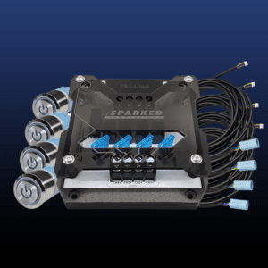 RBX LITE4 Super Bundle 18ft extension harnesses switches 300x300 - Relay Box SUPER Bundle - RBX-LITE4 + 4x Prewired Switch Harnesses + 4x Aluminum Switches