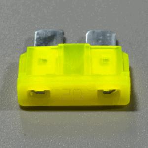 Single 20A yellow 12V automotive fuse ATC blade blown LED indicator glows 300x300 - 12V Automotive ATC Blade Glow Fuse with LED Indicator Illumination