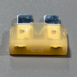 Single 25A 12V automotive fuse ATC blade blown LED indicator glows 300x300 - 12V Automotive ATC Blade Glow Fuse with LED Indicator Illumination