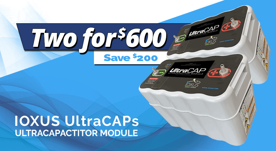 TWO Ioxus UltraCAP supercapacitor ultracapacitor modules - Sparked Innovations | 12V Custom Automotive Electronics