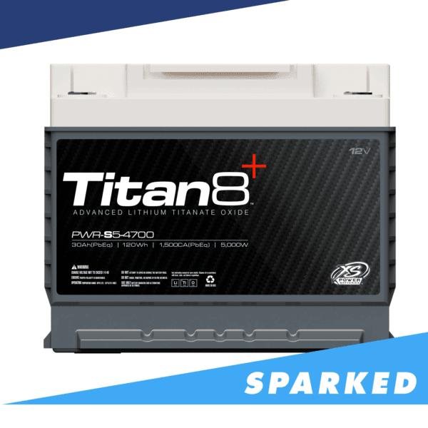 PWR S5 4700 front Power Series Titan 8 XS Power 12VDC Lithium Titanate Oxide LTO Car Audio Battery 600x600 - PWR-S5-4700 XS Power 12VDC Group 47 Lithium LTO Car Audio Battery 5000W 120Wh