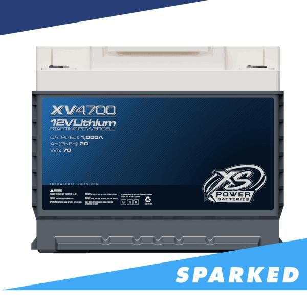 XV4700 front Xtreme Value XS Power 12VDC Lithium LTO Car Audio Battery 600x600 - XV4700 XS Power 12VDC Group 47 Lithium LTO Car Audio Battery 1500W 70Wh